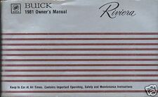Buick Riviera 1981 Owners Manual  Good Condition American