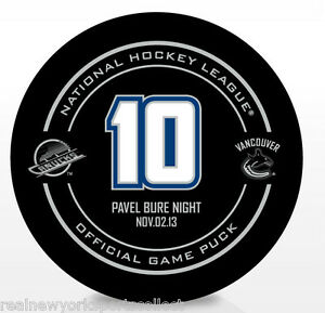 PAVEL BURE VANCOUVER CANUCKS RETIREMENT NIGHT OFFICIAL PUCK RARE 11/02/13 #10