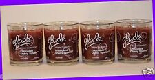 4 Jars Glade Candle CHOCOLATE CHERRY SPARKLE Holiday Winter Collection 4 oz ea