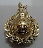 Royal Marines Cap Badge, Metal, Gilt, Gold, RM, Military, Hat, Headwear