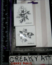 ROSE BLOSSOMS BUDS 2 FOAM RUBBER STAMPS LABLANCHE #1384 NIP