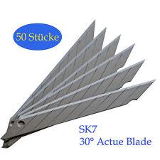 50er Pack Ersatzklingen RAZAR BLADE 30 Grad 9mm Abbrechklingen Cuttermesser DE