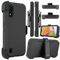 For Samsung Galaxy A01 Hybrid Heavy Duty Case Cover Holster Clip Fits Otterbox