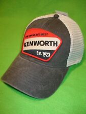 KENWORTH HAT:       Est. 1923 Mesh Back Truckers Cap        * FREE SHIP IN USA *