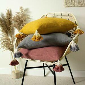 Furn Eden Ombre Tassel Cushion Cover in Ochre 45 x 45 cm