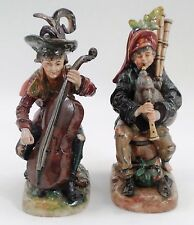 Mint Dresden Capodimonte Crown N Street Musician Beggar Figurines Bagpipe Cello