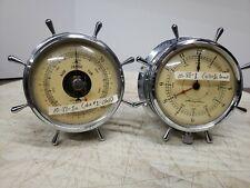 Vintage Airguide Boat Barometer & Clock