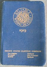 New listing Reliable Wiring Devices 1919 Ge Specialties Catalog General Electric