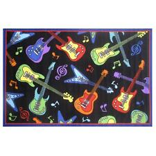 "Fun Rugs Fun Time Collection Guitars Area Rug 51"" x 78"""