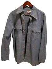 New listing Levi'S Big E Orange Tab Men's Chambray Xl Shirt - Vintage