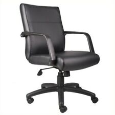 Boss Office Products Mid Back Executive Office Chair In Leather Plus