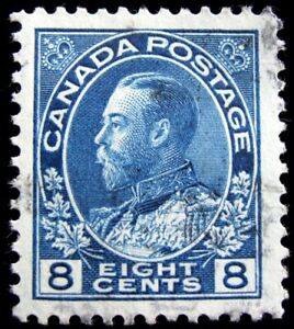 CANADA – Sc #115 – 8¢ – BLUE – USED – 1925