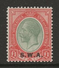 South West Africa 1927-30 £1 Pale olive-green SG 57 Mint.