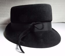 vintage union made peachbloom velour merrimac body fedora made of imported fur