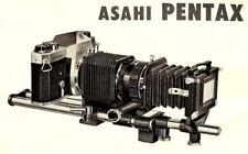 1960s PENTAX ASAHI BELLOWS II / SLIDE COPIER INSTRUCTION MANUAL -PENTAX 35mm