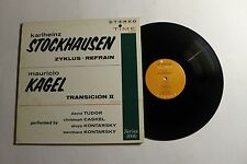 KARLHEINZ STOCKHAUSEN Zyklus Refrain LP Time Rec. S-8001 US 1961 VG+ 14B