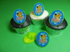 12 Scooby Doo Rings Cupcake Toppers Cake Pop Decorations Party Favors