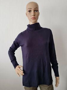s.Oliver Damen Langarm Pullover Rollkragen Strickpullover Marine Größe 36-38