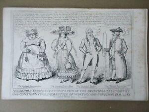 """Vintage Engraving,HOUSEHOLD TROOPS,Domestics,C.1850,Geo.CRUIKSHANK,11""""x17"""""""