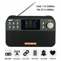 DAB+ Radio Digitalradio AKKU Farbdisplay Uhr UKW Tuner Radiowecker Bluetooth