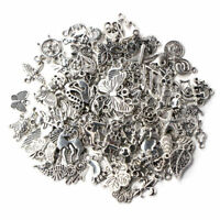 Wholesale 100pcs Bulk Lots Tibetan Silver Mix Charm Pendants Jewelry DIY NV