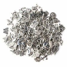Wholesale 100pcs Bulk Lots Tibetan Silver Mixed Charm Pendants Jewelry DIY
