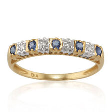 Natural Sapphire Eternity Yellow Gold Fine Rings