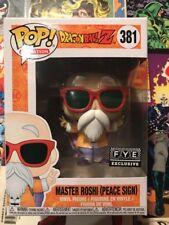Funko Pop! Maestro Roshi Fye Esclusivo 381 Menta Dragon Ball Z Segno di Pace