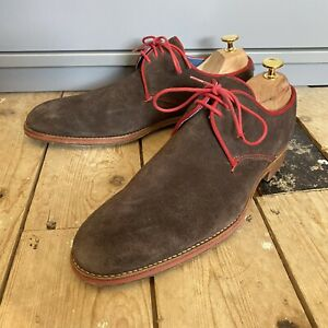 Barker Brown Suede Shoes UK 7 F Creative Collection Smart Shoes
