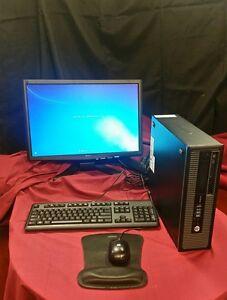 HP Compaq Pro6300 SFF 4 GB HDMI, 10 USB ports Win 7SP1 280 HD DVD player