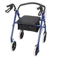 US Heavy Duty Elderly Extra Wide Bariatric Rollator Rolling Walker w/Padded Seat