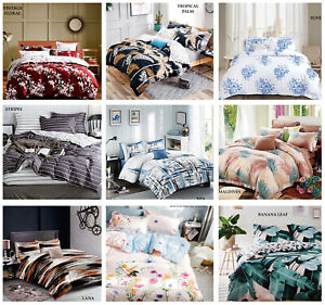 Luxury Duvet Cover Bedding Set Quilt Cover With Pillow Cases Double King Size