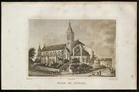 1829 - Gravure Eglise de Gonesse