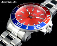 NEW Invicta Men's 46 mm Pro Diver PEPSI BEZEL RED DIAL Stainless Steel Watch !!