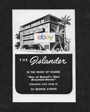 Fein Volcano Haushotel & Hilo Hotel Hawaii 1962 Anzeige Antiquitäten & Kunst