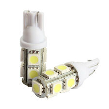 2x 194 168 W5W T10 9SMD-5050 LED White Light Car Tail Lamp Bulb Bright 12V New