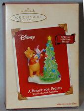 Hallmark Christmas Ornament Lights A BOOST FOR PIGLET Disney Pooh Tree 2003 NEW