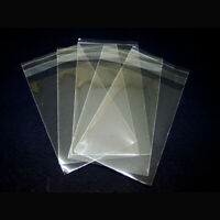 100pcs Clear Self Adhesive Resealable Poly Cellophane OPP Bags 4 Different Sizes