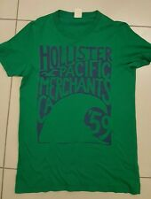 MENS HOLLISTER CREW NECK T SHIRT, MEDIUM, GREEN WITH GRAPHIC,STUNNER