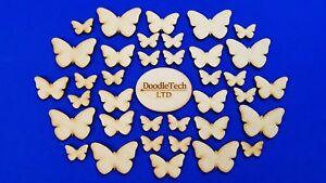 Wooden Butterflies / Butterfly - Laser Cut MDF Blank Embellishments Craft Shapes