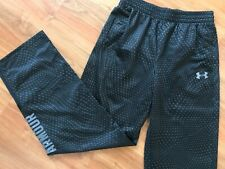 NEW Boys Black Patterned UNDER ARMOUR TRACKSUIT BOTTOMS (age11-12) *BNWOT*