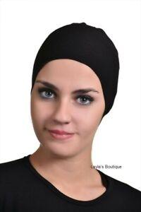US-Islamic-Women-Cotton-Headscarf-Inner-Muslim-Hijab-Cap-Underscarf--Scarf