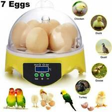 7 Digital Egg Incubator Chicken Duck Hatcher Mini LCD Temperature Control UK