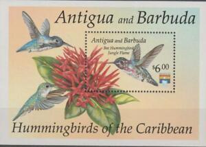 Antigua 1992 Souvenir Sheet #1597 Birds and Flowers - MNH