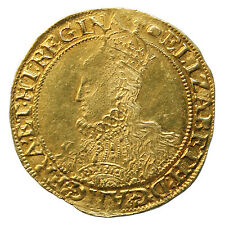 ELIZABETH I GOLD POUND COIN, THIRD ISSUE, MINT MARK WOOLPACK