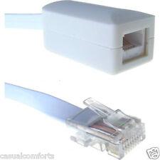 3m, RJ45 enchufe para PABX Master Bt 6 Alambre 6p6c teléfono Socket Adaptador / Convertidor