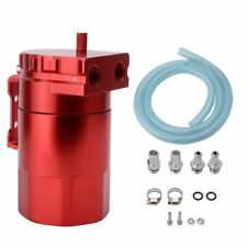 Aluminum Alloy Oil Catch Can Reservoir Breather With Fittings Kit Tank Red