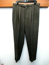 EUC Men's Giorgio Armani Le Collezioni 100% Wool Pleated Pants Sz 36x31 Dunn