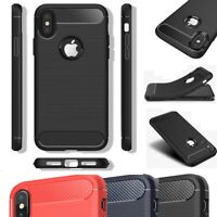 Carbon Fiber Silicone Case For iPhone X XR XS Max 8 7 6 Plus Ultra Thin Cover