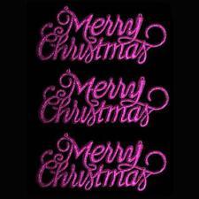 """Decoración de Navidad de 3 Paquete de brillo """"Feliz Navidad"""" signos-Púrpura"""